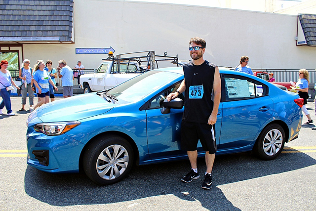 2018:  Forrest Ellena from Redding, California won the 2018 Subaru Impreza grand prize with so much excitement that he gladly and proudly accepted the keys. Congratulations Forrest!