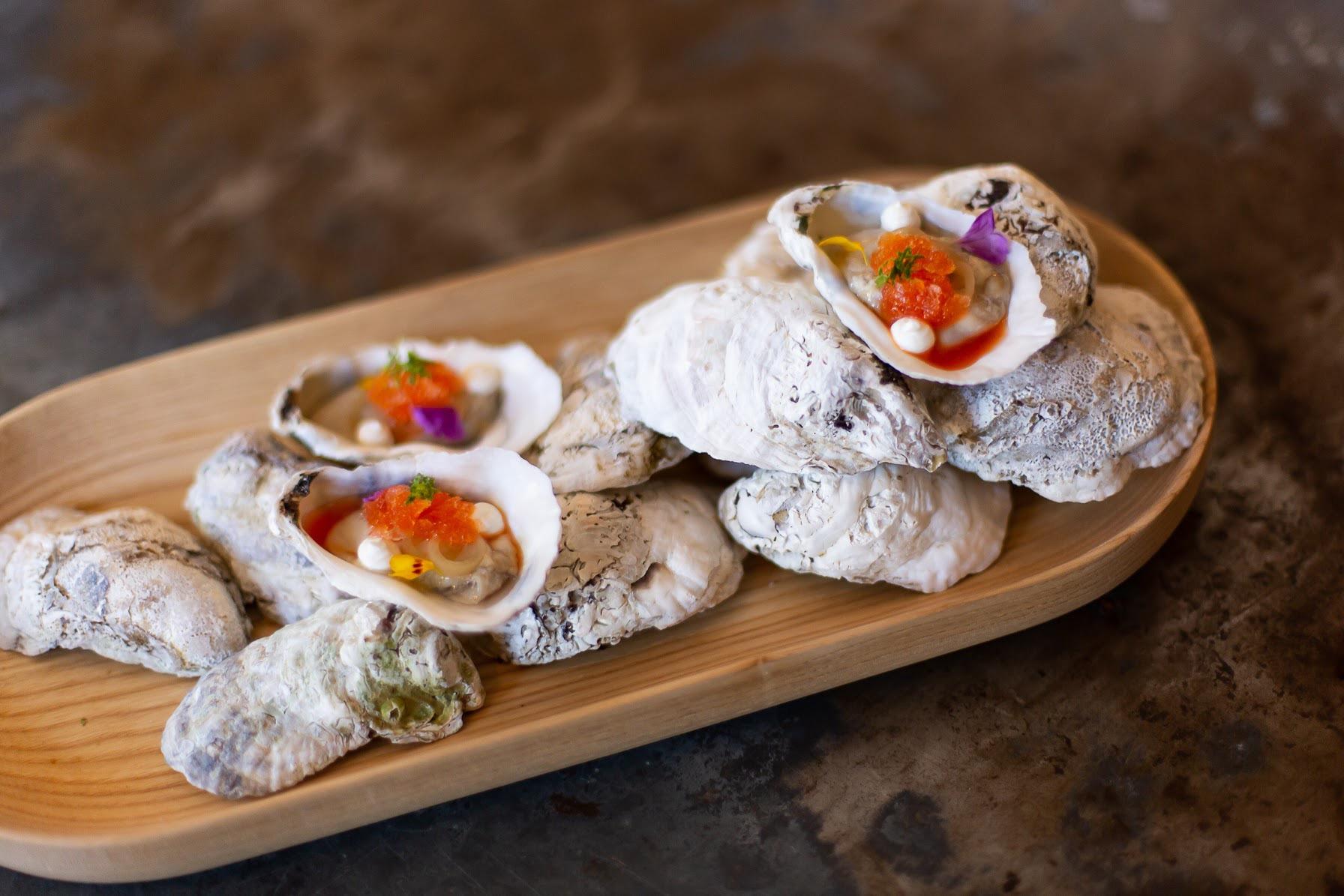 Raw Oysters w/ Seasonal Garnish
