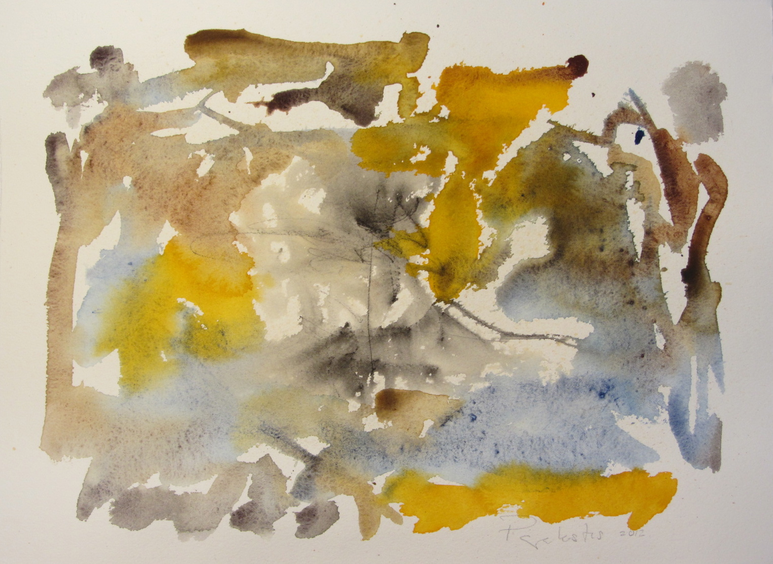 Left at the next corner (no.2) 2012, watercolour on paper 27.94 x 38.10cm (11 x 15in ) Framed) - IMG_0088.JPG
