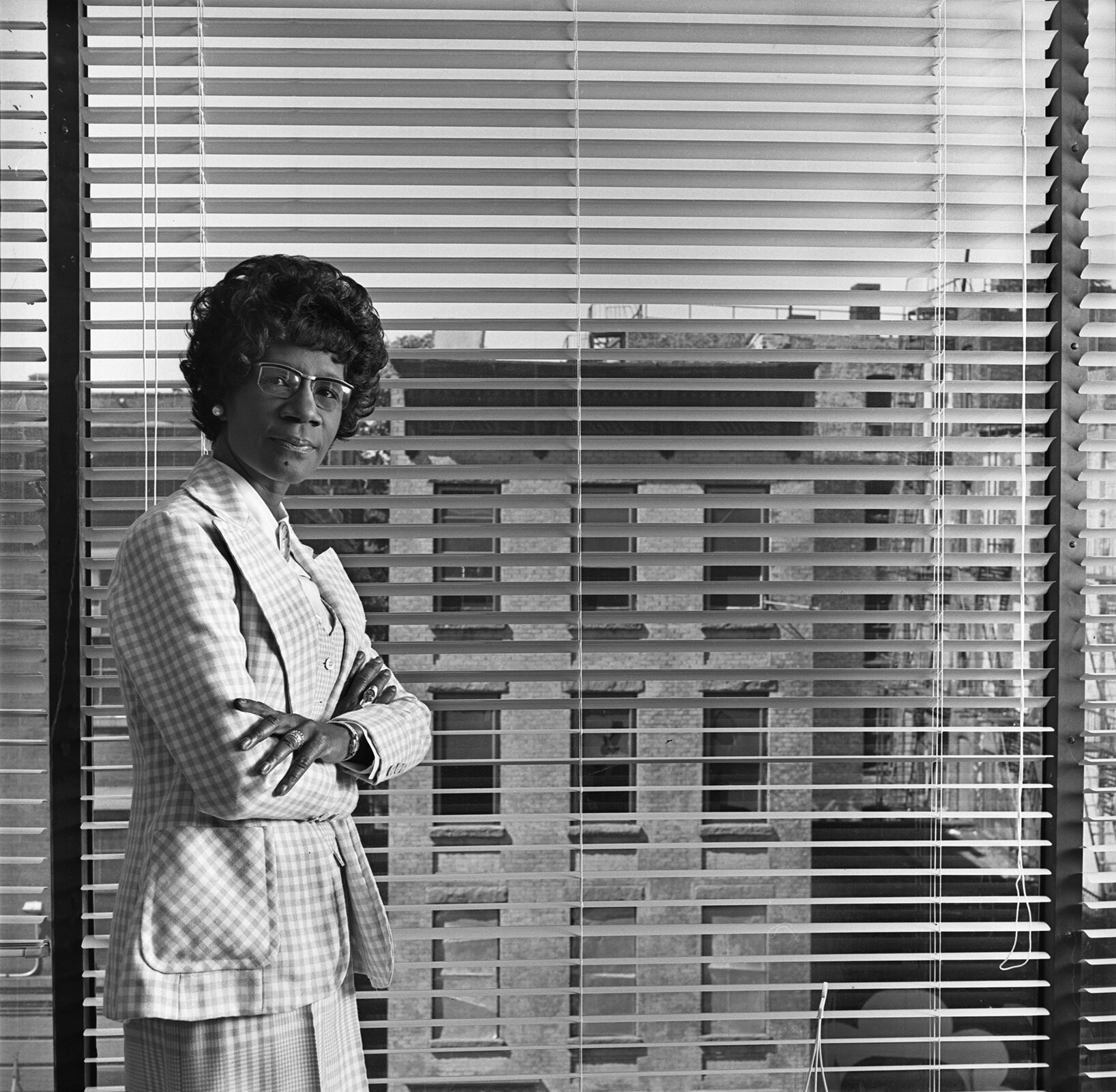 congresswoman shirley chisolm, at her bedford-stuyvesant offices, brooklyn