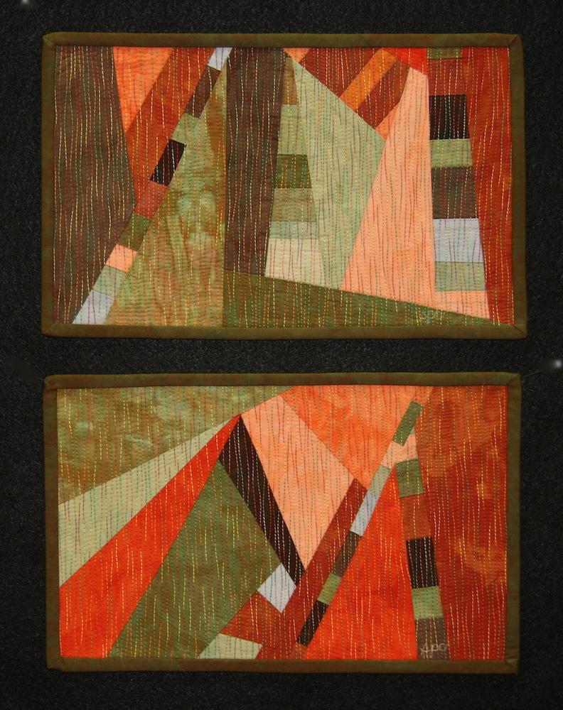 Earthtones 1 & 2 Study | © 2009 | 7 x 11 each panel