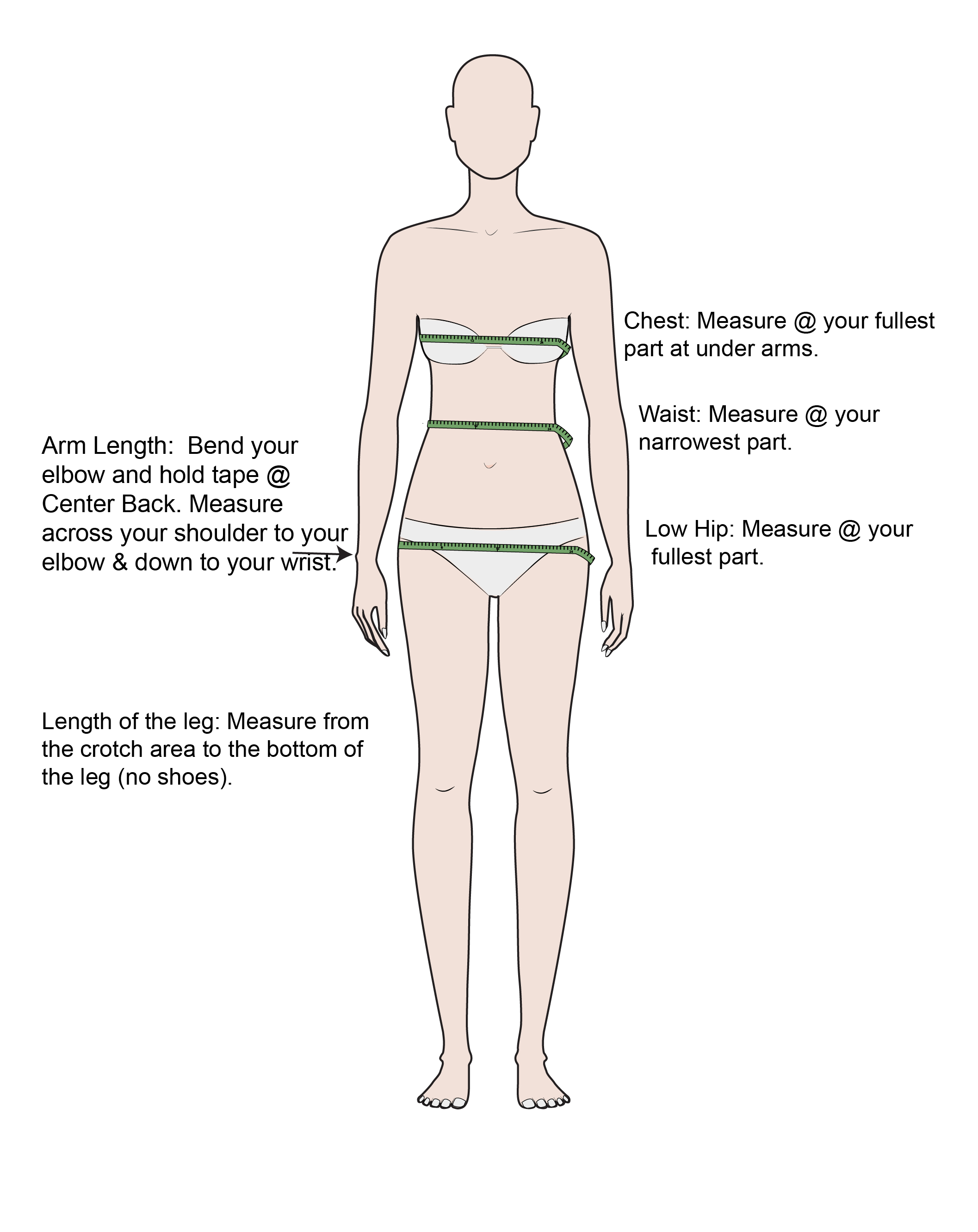 How to Measure Guide for Ready To Wear. See additional information to order Custom Made.