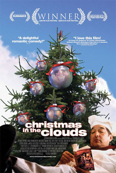 """Christmas In the Clouds - Award-winning romantic comedy starring a Native American cast. Premiered at 2001 Sundance Film Festival. Winner of the 2001 Time-Warner Audience Award at the Austin Film Festival, Best Native Film at Santa Fe Film Festival. Voted """"Audience Favorite"""" at festivals in Mill Valley, Vancouver, Philadelphia, and Ft. Lauderdale. Endorsed by Oprah Winfrey and Roger Ebert when it released theatrically in 2005, the film has an 81% favorable rating from """"Top Critics"""" on Rotten Tomatoes. U.S. Theatrical Release: 2005, DVD: 2006. Streaming via Criterion Collection & on Amazon Prime."""