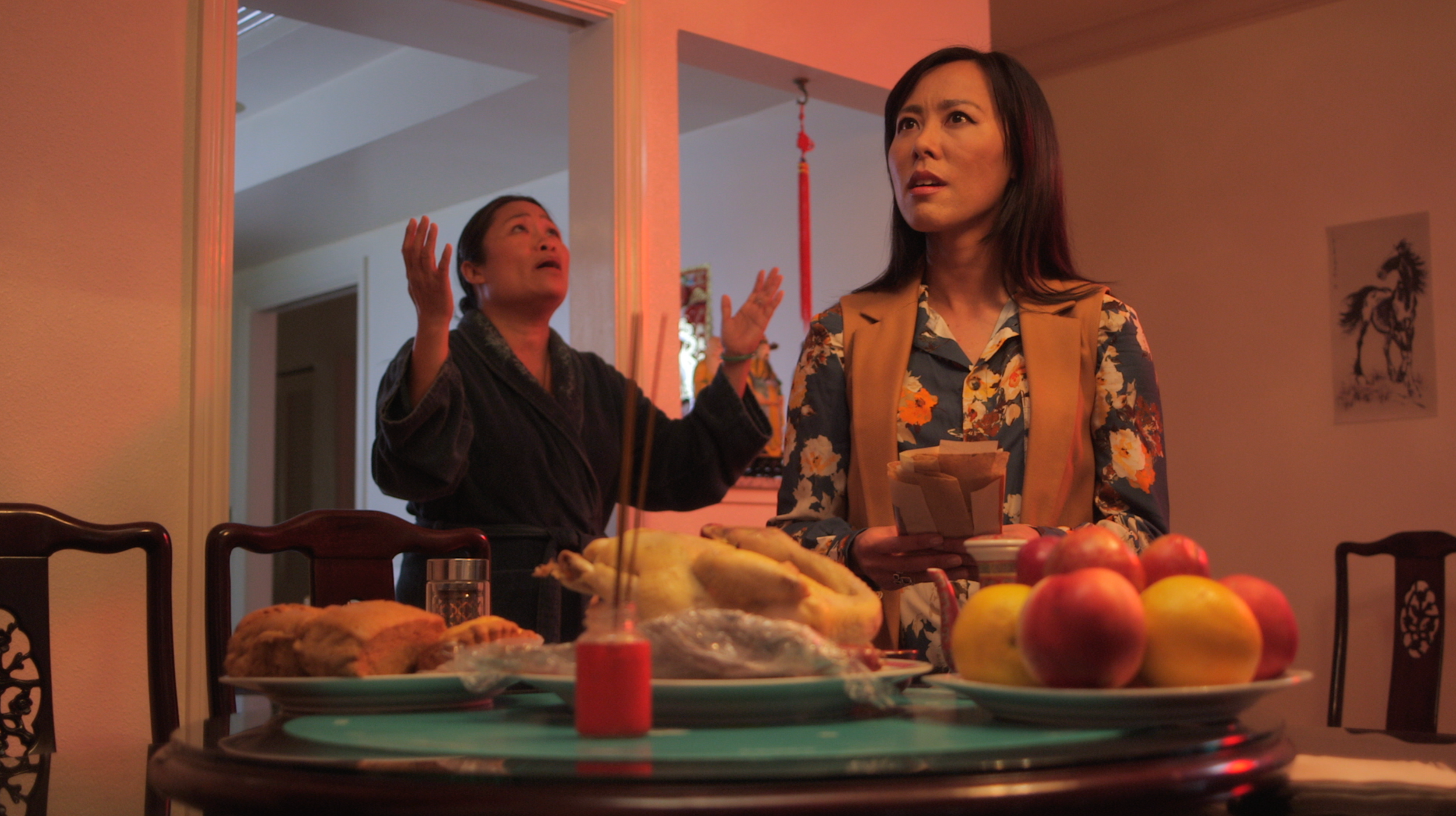 """Neither here Nor There - Written by Janene Lin and directed by Kate Montgomery, the comedy """"Neither Here Nor There"""" follows a first-generation Chinese American woman as she tries to reconcile the traditions of the past with the ideals of the present while winning a condom account for her ad agency. Currently on the festival circuit, NHNT has been chosen for BBC Writer's Room, and as an official selection at Webfest Berlin, Seattle Webfest, ITVfest, Seoul Webfest, London Int'l Motion Picture Awards and Windy City Film Festival."""