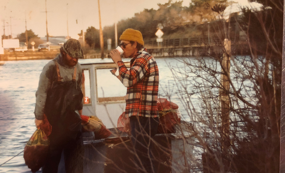 The early morning clam haul, late 1970s.