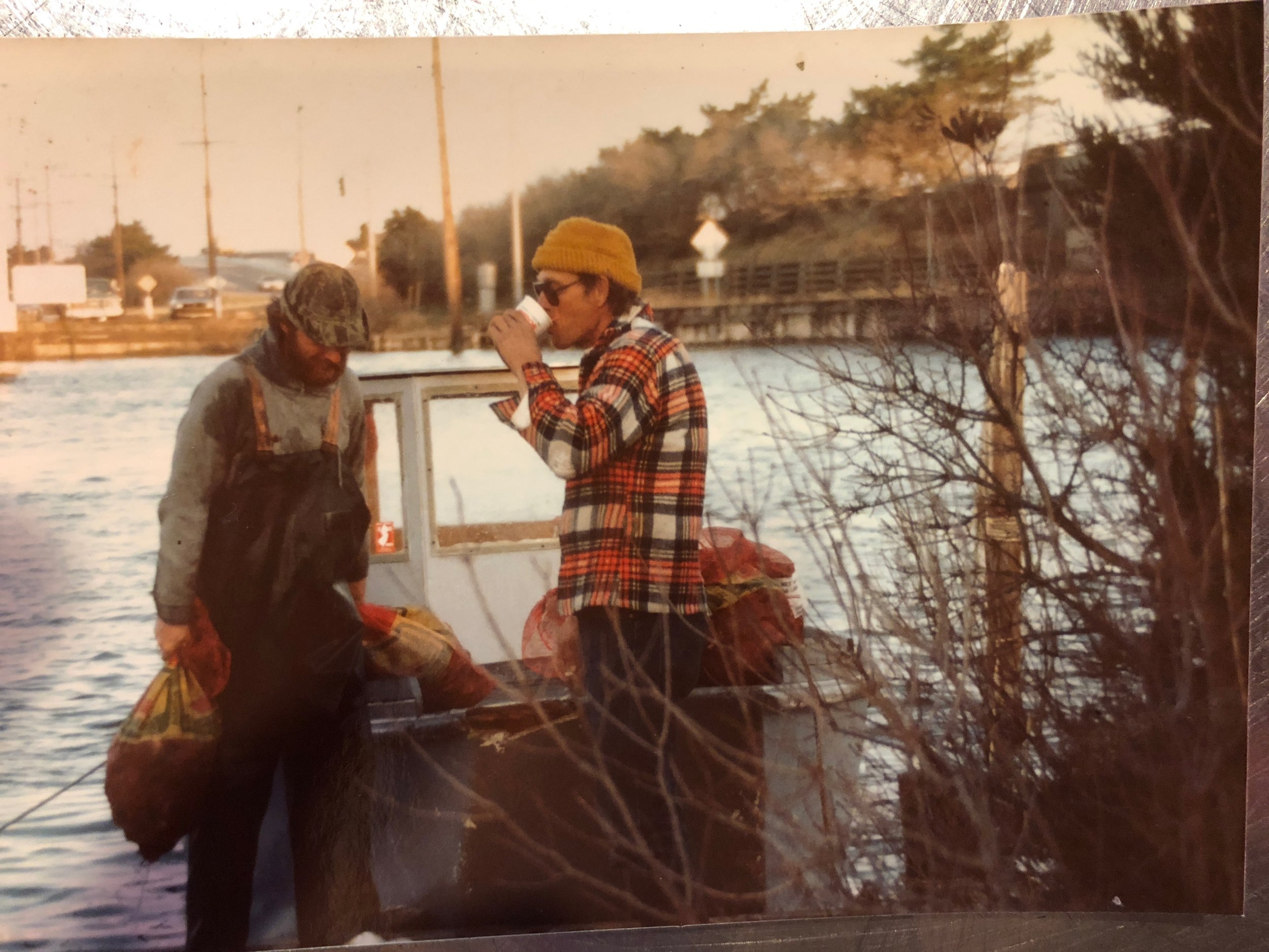 Young folks working the bay in the 1970s.