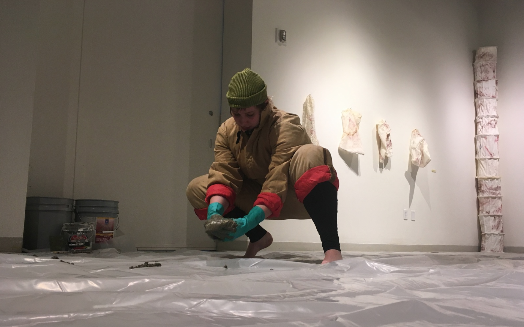 I WANT TO LIVE UNDER YOU,   Performance, concrete  2018  (Photo taken by  Kristina Johnson )