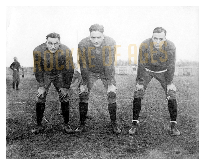 5) 1920 ND backfield