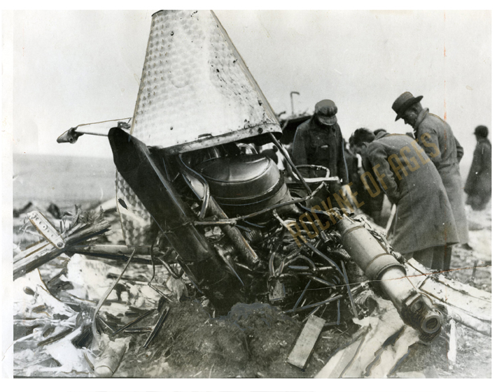 The airplane wreckage