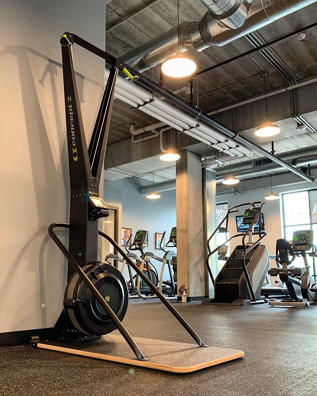 Fun new toy here at PKFit! Have you ever tried a Skierg before? If so, what's your favorite workout to do? #PKFit