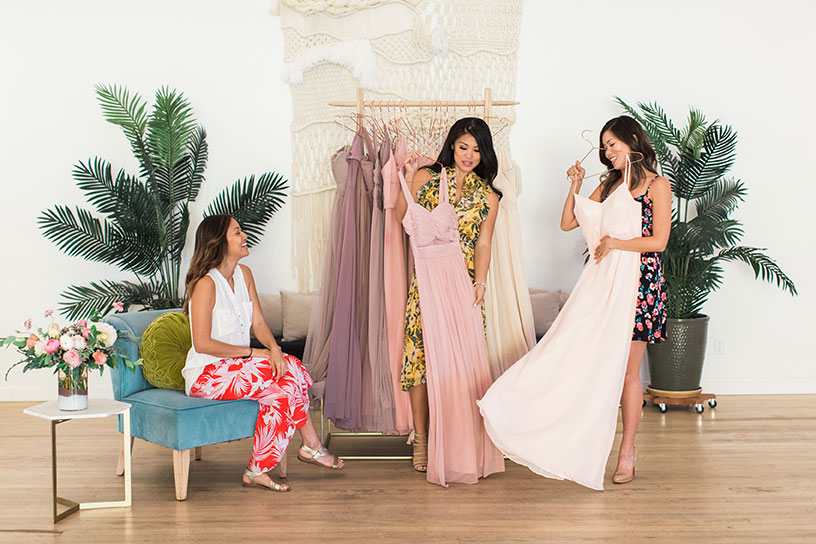 Birdy Grey - Influencer Styled Shoot - Bridal try-on party for June Quan