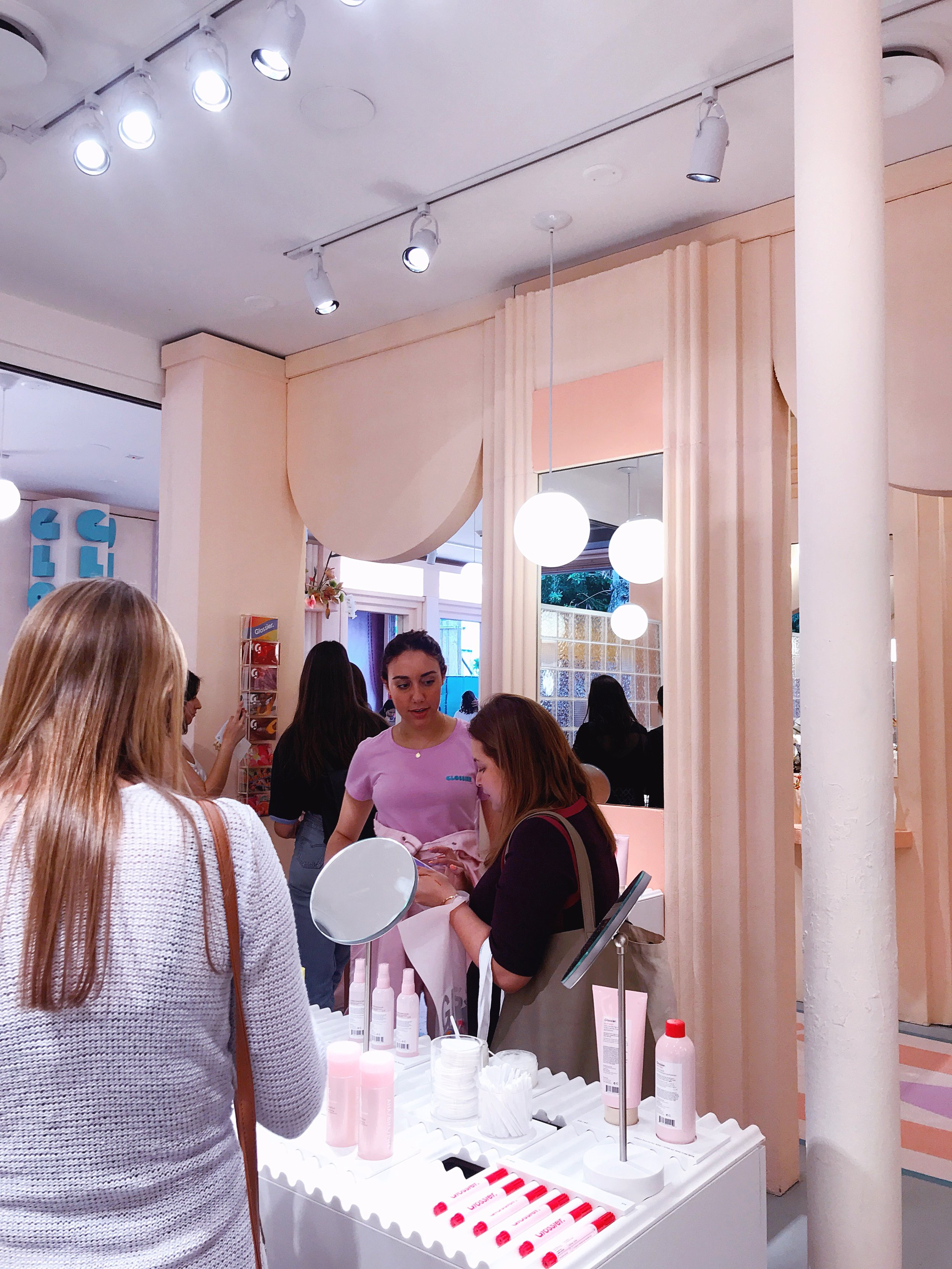 Glossier hit Miami Beach in full millennial pink force. (Photo Credit: Natalia Yepes)