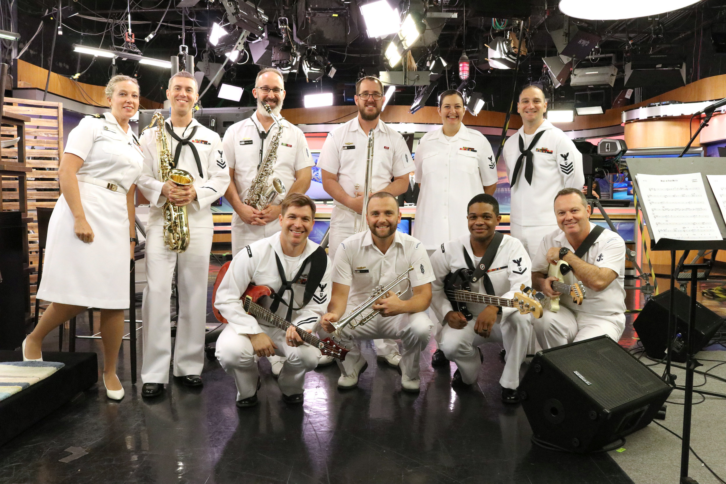 Ben performs with the Pacific Fleet Band on KHON2 News Hawaii during Operation RIMPAC 2018 -