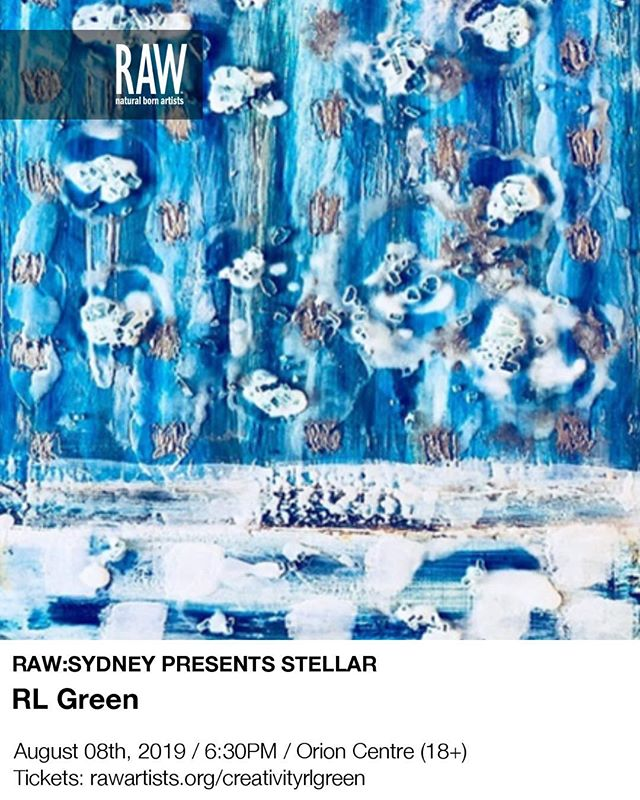 Buy tickets to STELLAR and experience creativity across the spectrum of visual art fashion photography film tech craft performing art music @rawaustralia @rawartists @fantastic_framing1 @whiterhinoartspace #encaustic #encausticart#exploringencaustic @nature #natureart #mcontemporary @australian.artists