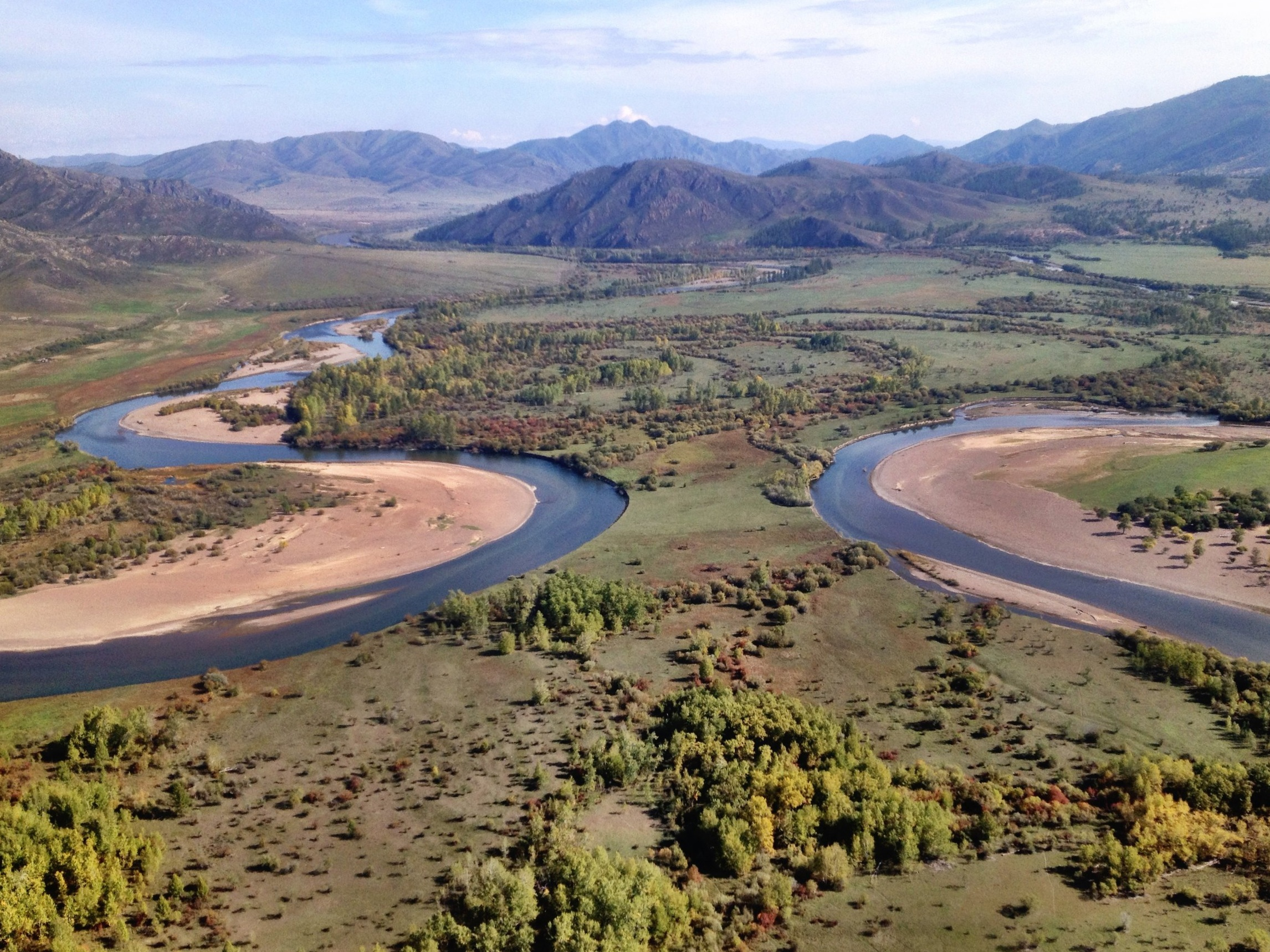 Eg River from the air