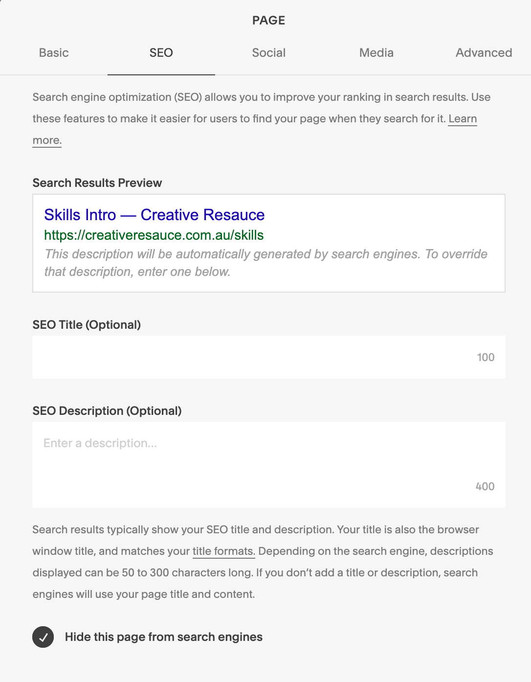 GET THE BASICS OF SQUARESPACE SEO SET UP RIGHT IN 2019