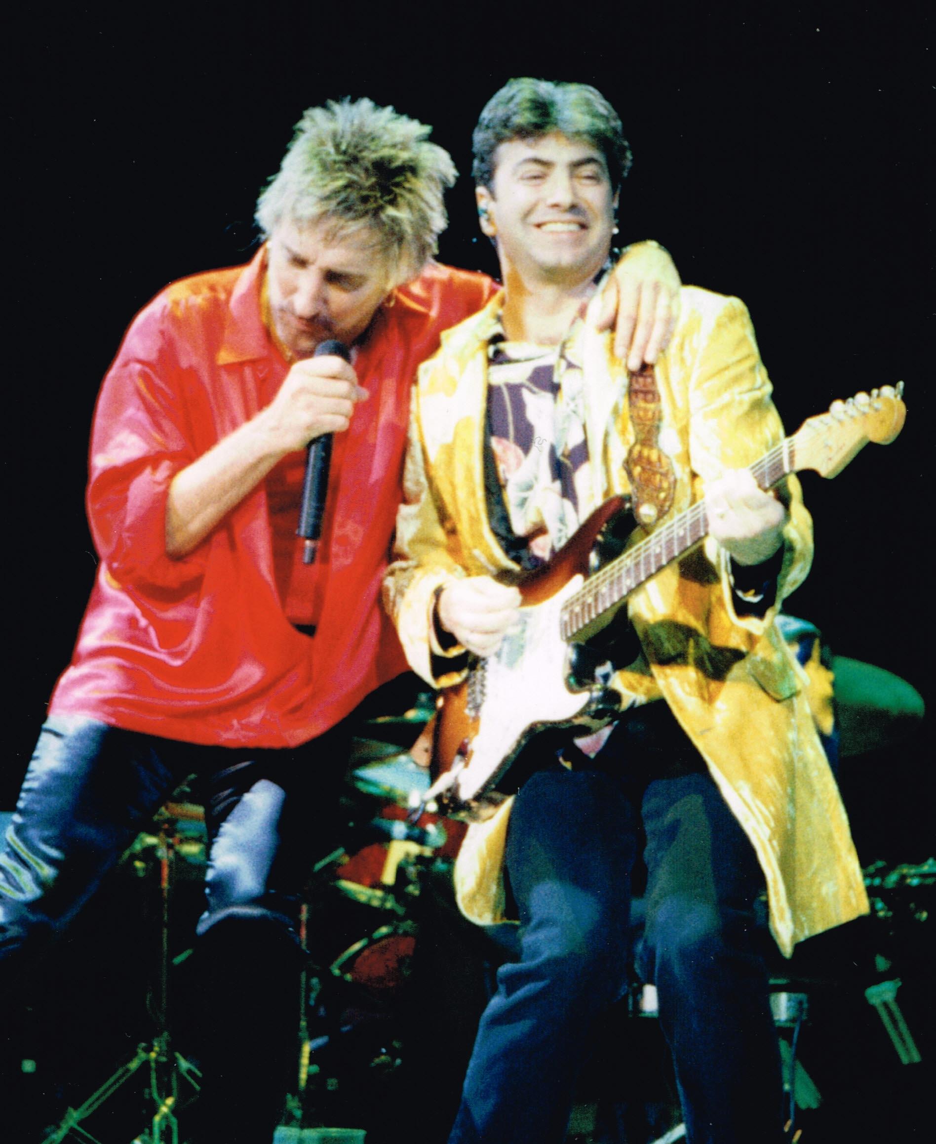 with Rod Stewart, Europe 1995