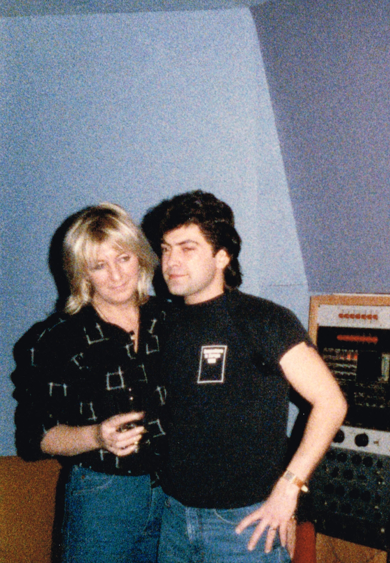 with Christine McVie, Montreux, SW 1983