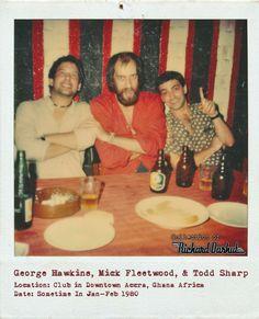 with Mick Fleetwood & George Hawkins, Ghana, 1980