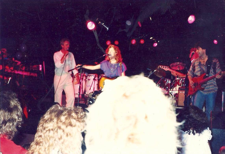 with Bonnie Raitt, Mike Finnegan 1987