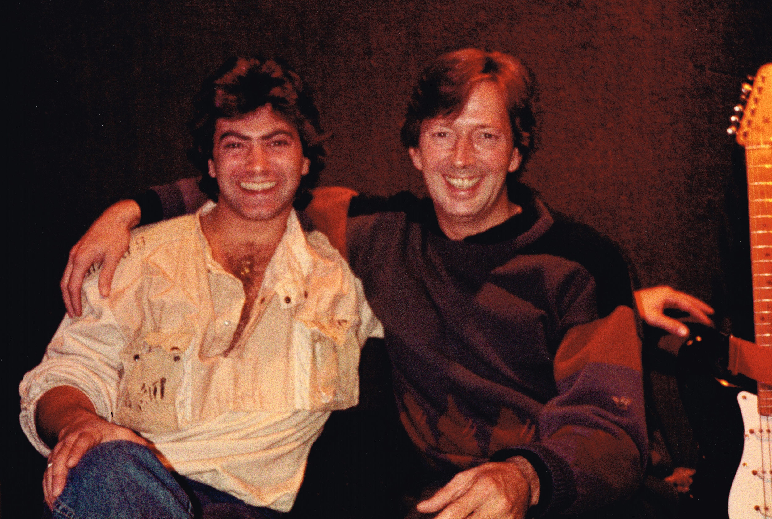 with Eric Clapton, Olympic Studio, London, 1983