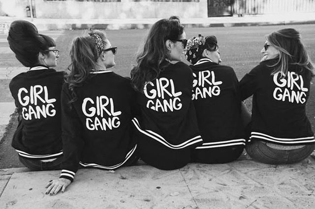 "Get your girl gang together and join the Riot! Use code ""BRIDALRIOT"" to receive 15% off on your bridal party attire through July 17th on romanticriot.com . . . #pinterest #inspiration #bridalparty #wedding #girlgang #female #woman #womanempowerment #womanwednesday"