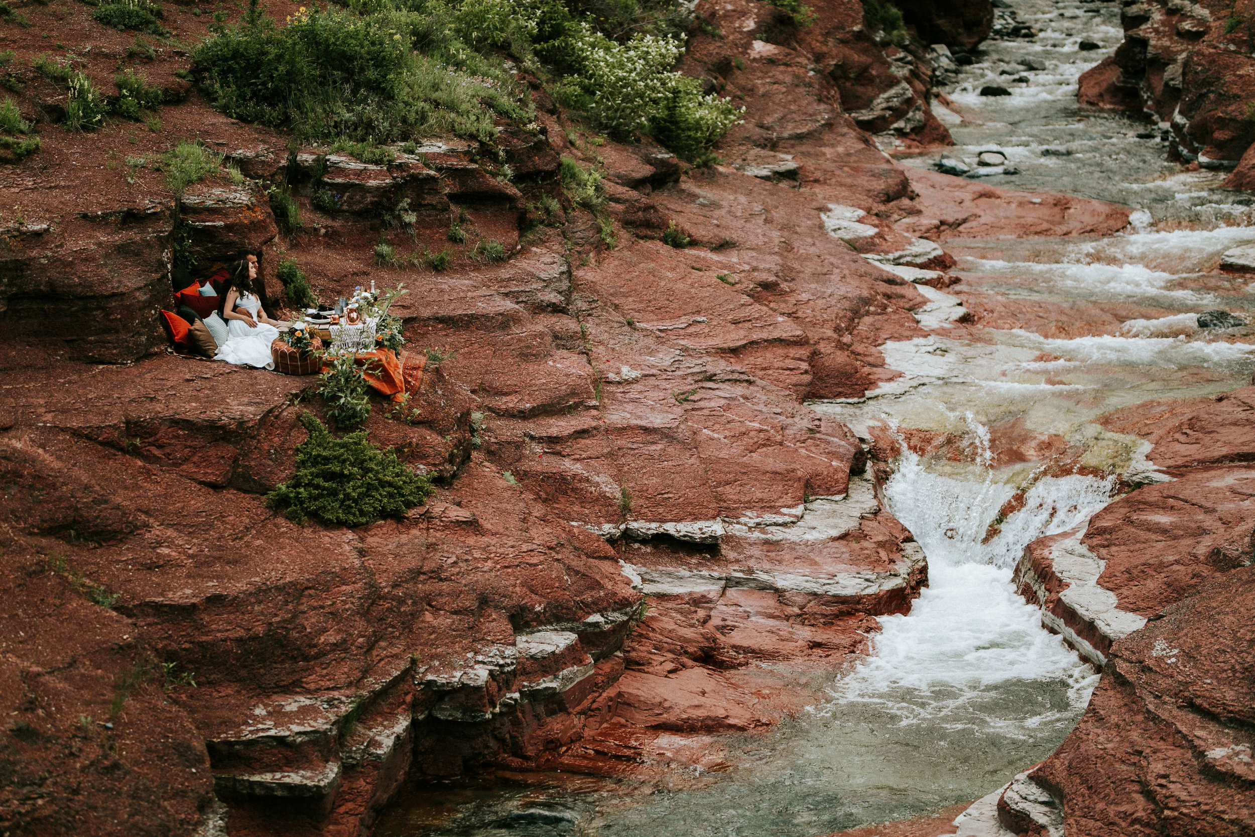 Michaela and Jay's Picturesque Elopement in Red Rock Canyon // Wedding Inspiration in Waterton, Alberta - Bronte Bride Blog
