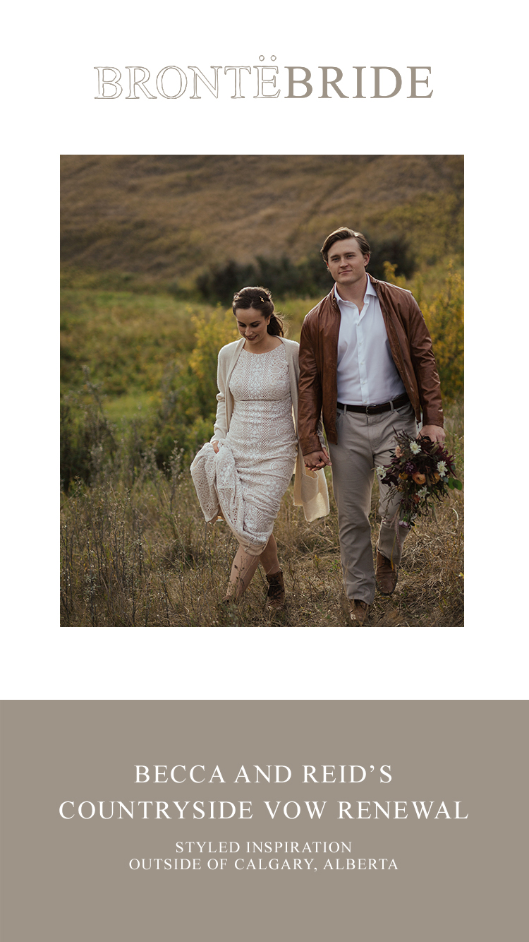 Becca and Reid's Countryside Vow Renewal // Styled Inspiration outside of Calgary, Alberta - Bronte Bride Blog