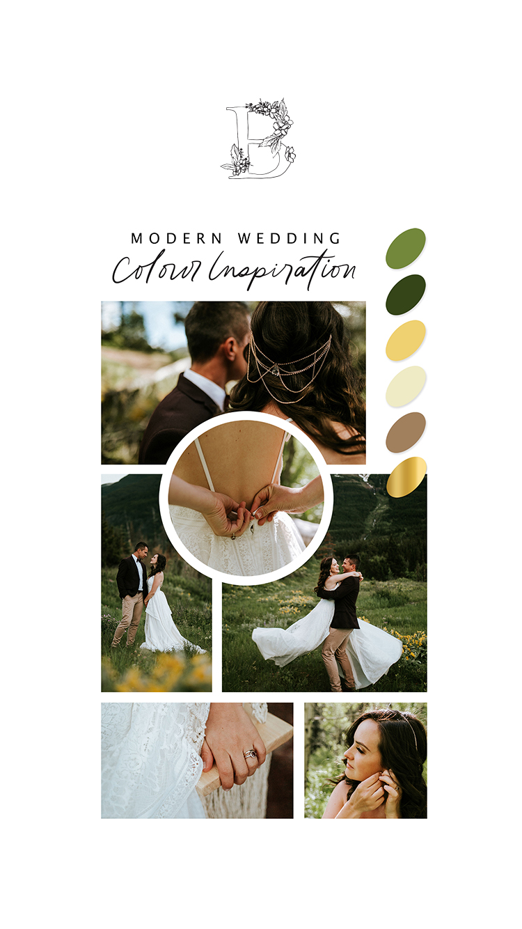 Michaela and Jay's Picturesque Elopement in Red Rock Canyon // Bronte Bride - Modern Wedding Colour Inspiration