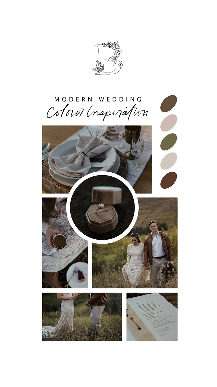 Becca and Reid's Countryside Vow Renewal // Bronte Bride - Modern Wedding Colour Inspiration
