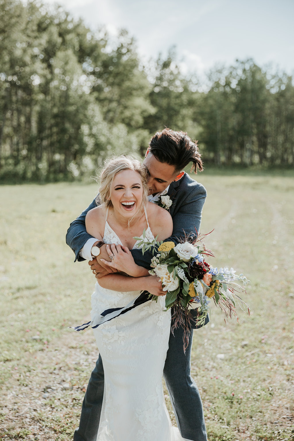 Intimate Farmyard Wedding Inspiration // Eclectic and Vintage Elopement Dripping With Jewel-Toned Decor - Bronte Bride