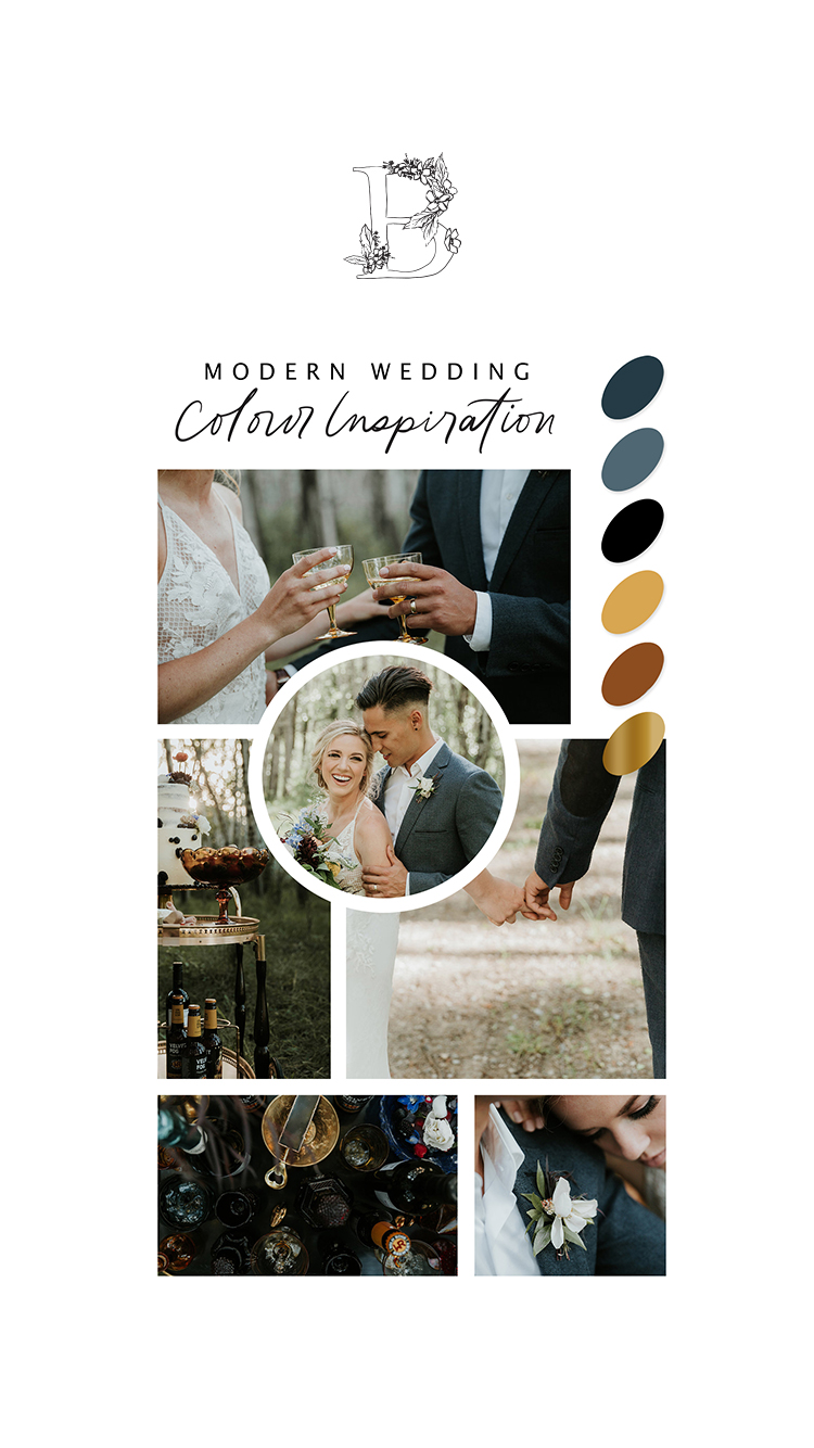 Modern Wedding Colour Palette Inspiration // Intimate, Eclectic and Vintage Farmyard Inspiration - Bronte Bride