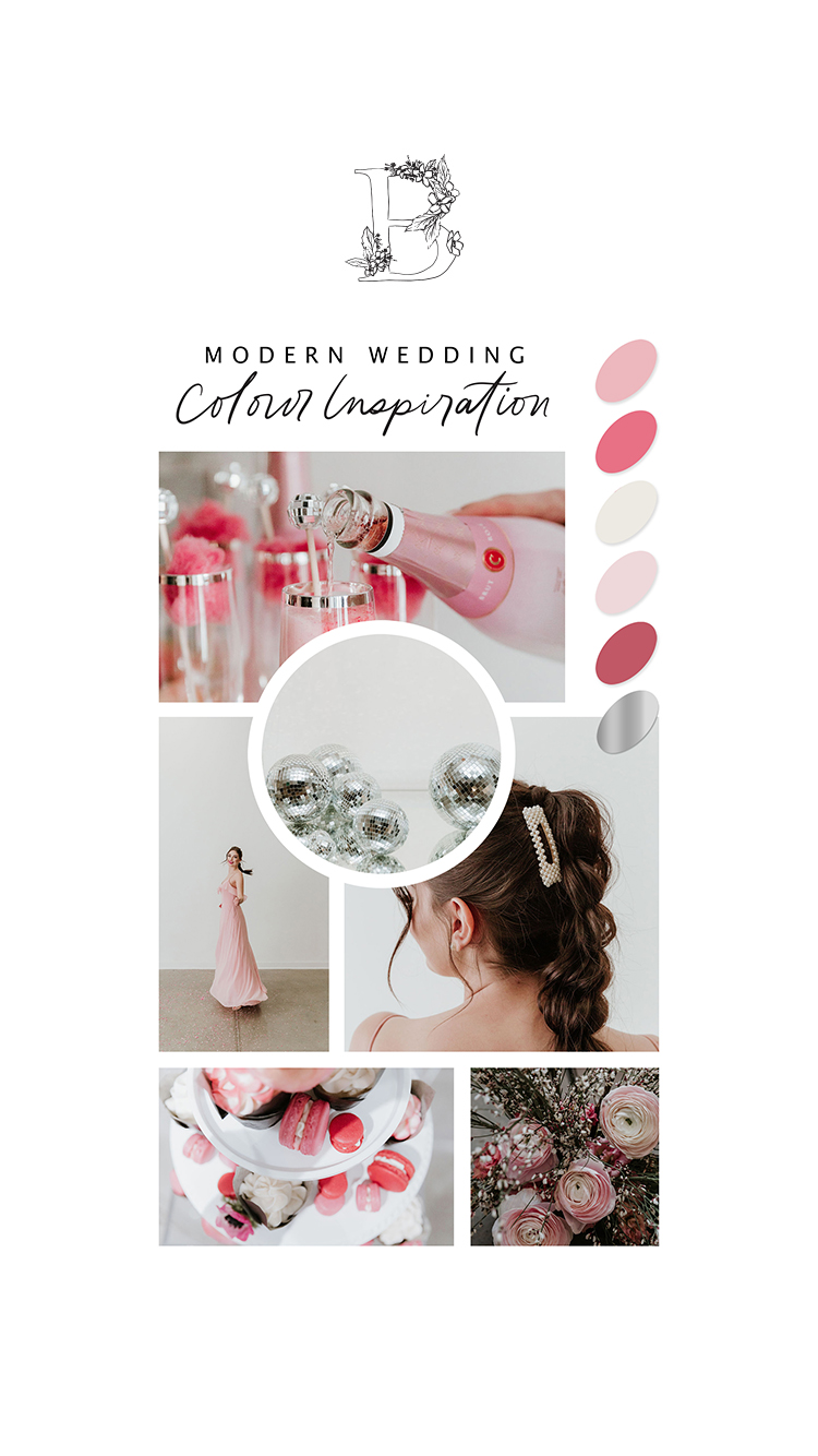 Modern & Glamourous Wedding Celebration // Styled Shoot at The Pioneer in Calgary, Alberta - On The Bronte Bride Blog - Wedding Colour Palette Inspiration