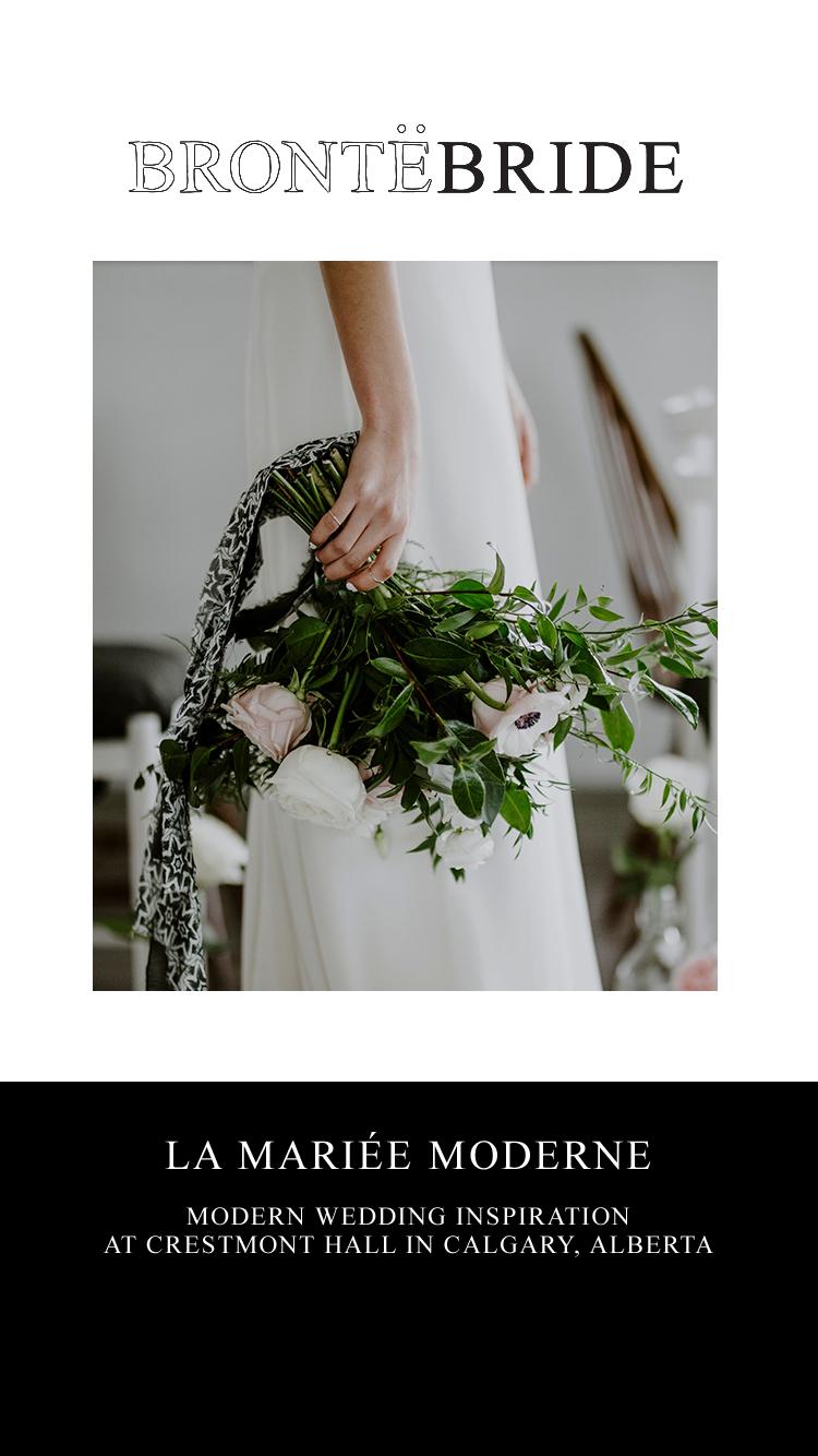 La Mariée Moderne // Styled Bridal Shoot at Crestmont Hall in Calgary, Alberta - On the Bronte Bride Blog