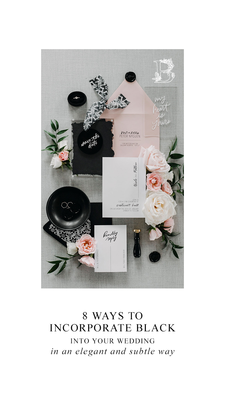 8 Subtle Yet Elegant Ways to Incorporate Black into Your Wedding Day - On the Bronte Bride Blog