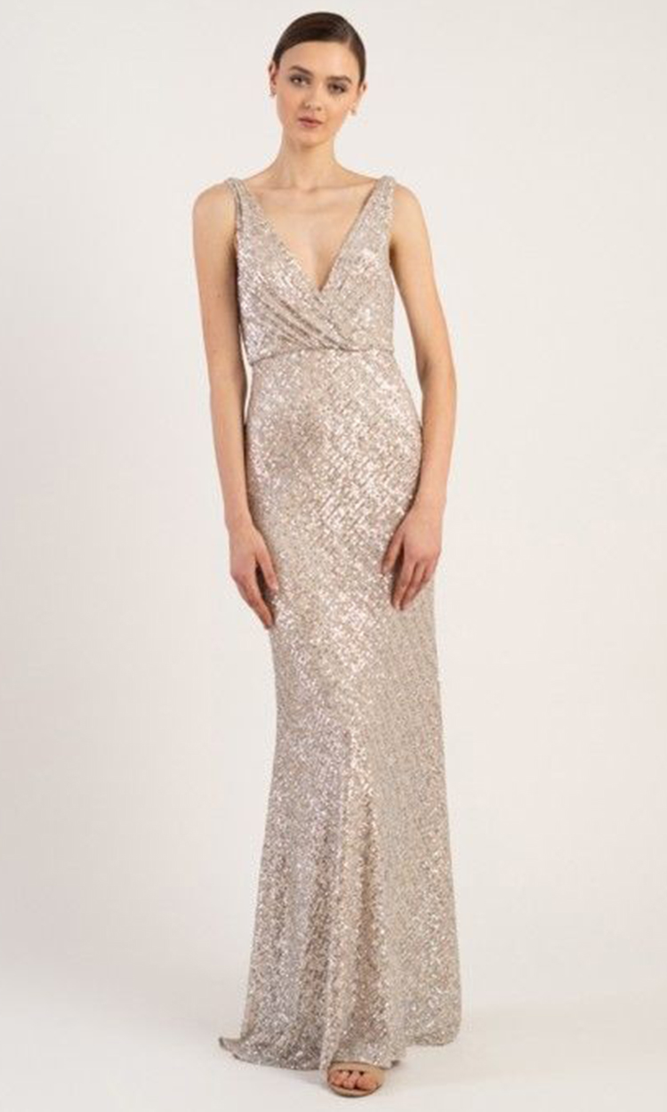 shop jenny yoo - Elegant Bridesmaid's Dresses in nude, champagne, and ivory tones.