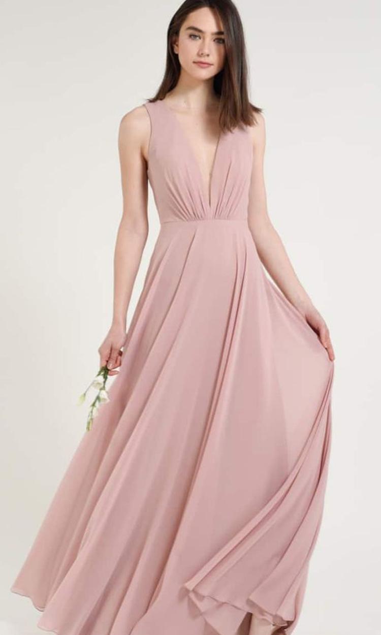 shop jenny yoo - Elegant Bridesmaid's Dresses in blush, and light pink tones.