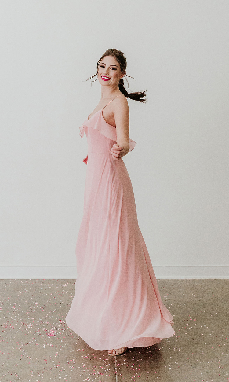 shop cameo and cufflinks - Elegant Bridesmaid's Dresses in blush, and light pink tones.