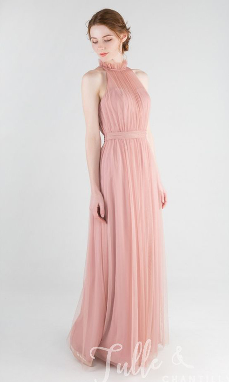 shop tulle and chantilly - Elegant Bridesmaid's Dresses in blush, and light pink tones.