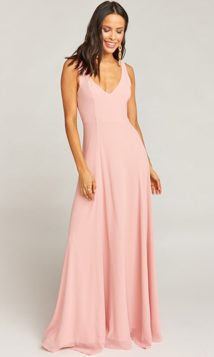 shop show me your mumu - Elegant Bridesmaid's Dresses in blush, and light pink tones.