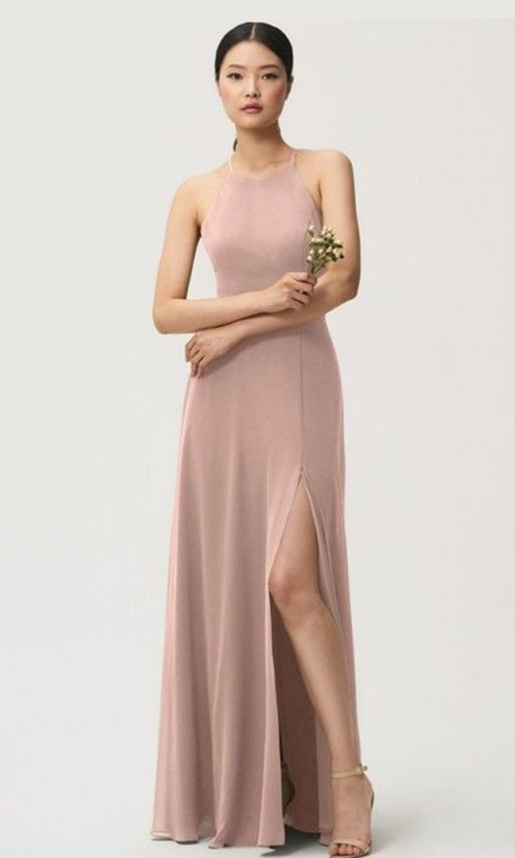 shop the raven room - Elegant Bridesmaid's Dresses in blush, and light pink tones.