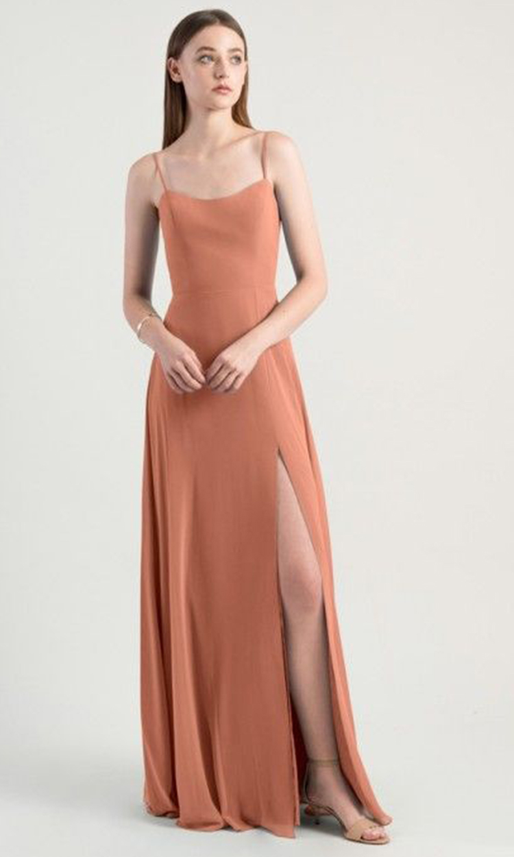 shop the raven room - Elegant Bridesmaid's Dresses in nude, blush, peach, apricot, and salmon tones.