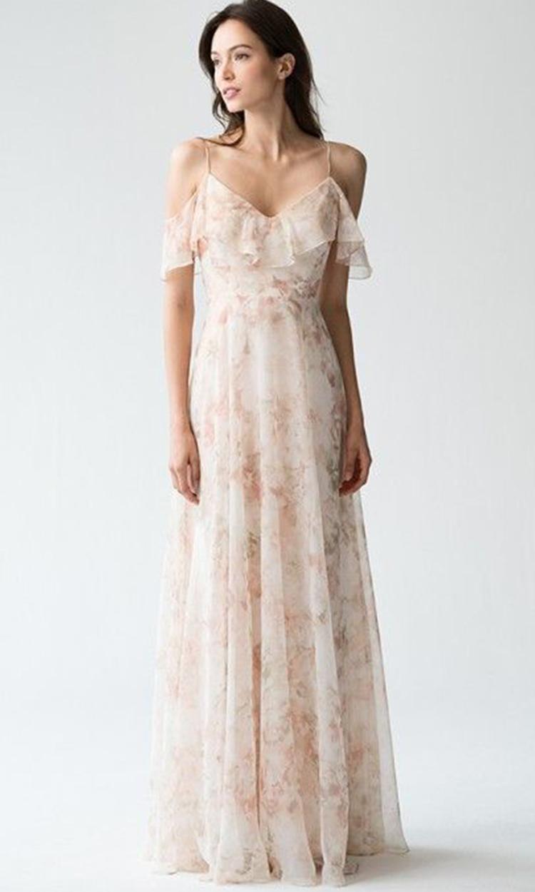 shop jenny yoo - Elegant Bridesmaid's Dresses in nude, blush, and ivory tones.