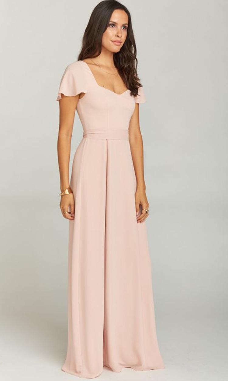 shop show me your mumu - Elegant Bridesmaid's Dresses in nude, blush, and ivory tones.