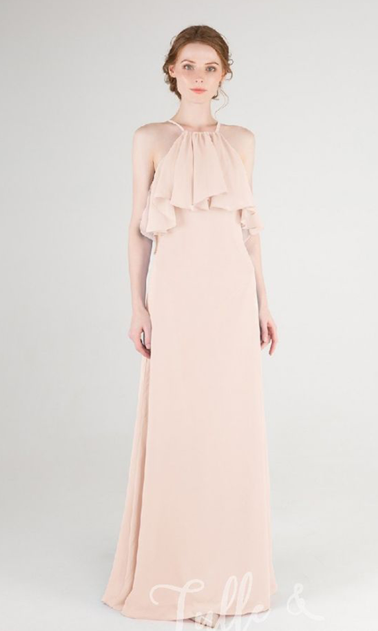 shop tulle and chantilly - Elegant Bridesmaid's Dresses in nude, blush, and ivory tones.