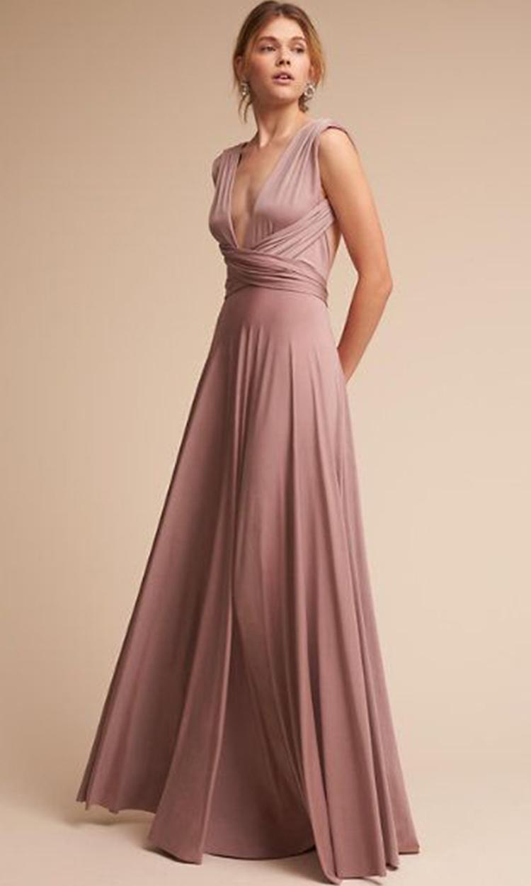 shop bhldn - Elegant Bridesmaid's Dresses in lavender, dusty purple, and lilac tones.