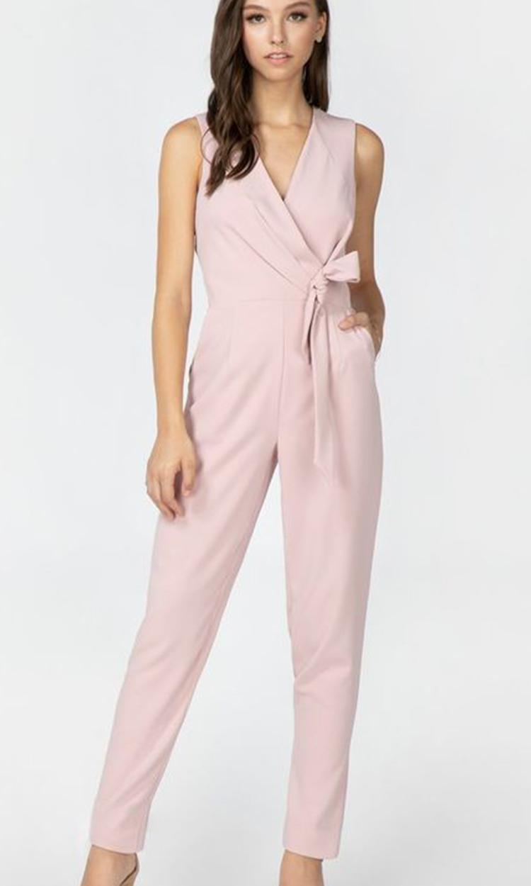 shop adorn - Elegant Bridesmaid's Dresses in blush, and light pink tones.