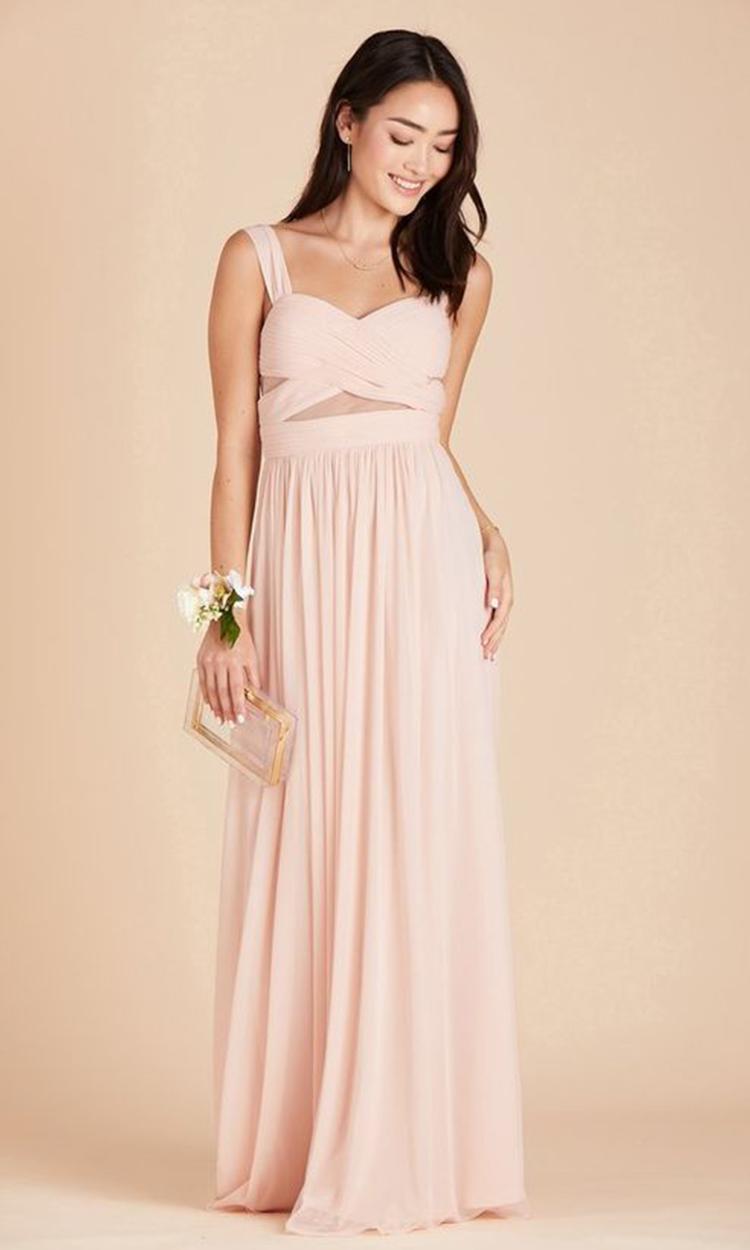 shop birdy grey - Elegant Bridesmaid's Dresses in blush, and light pink tones.