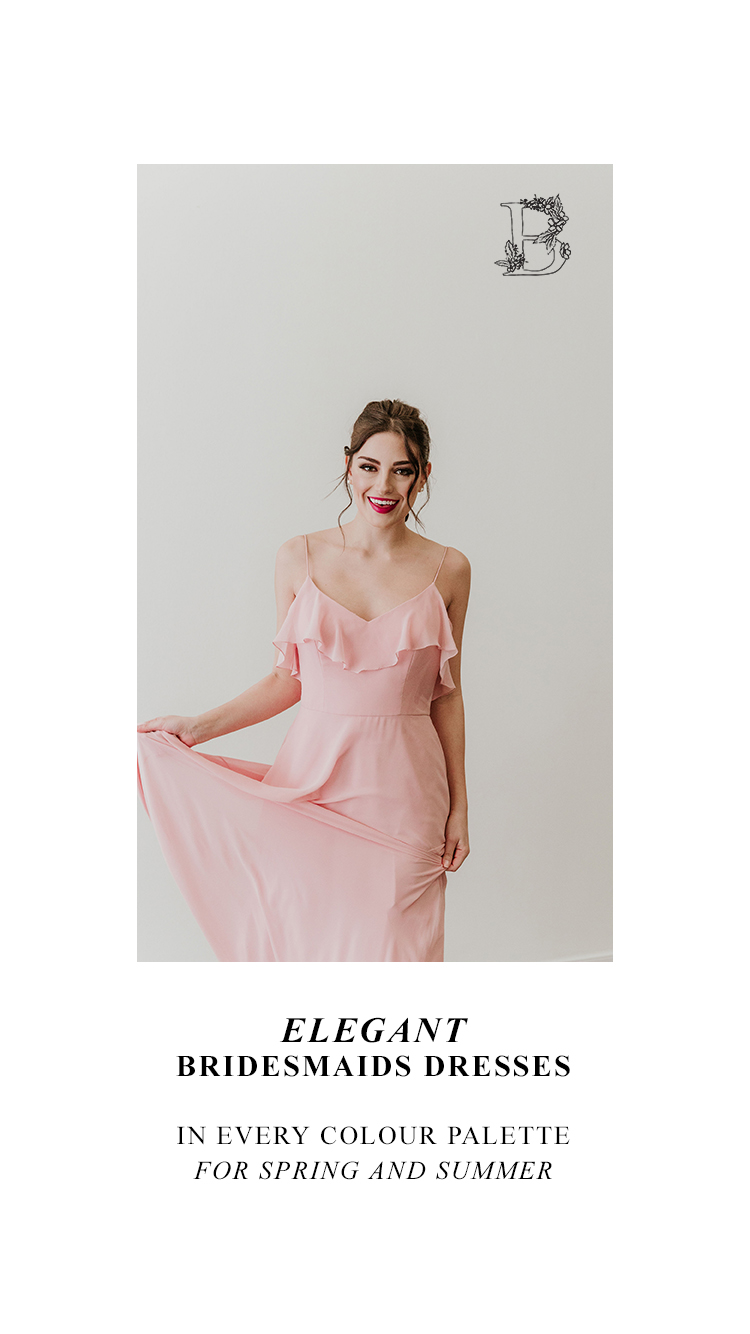 Elegant Bridesmaid's Dresses in Every Colour Palette for Spring and Summer