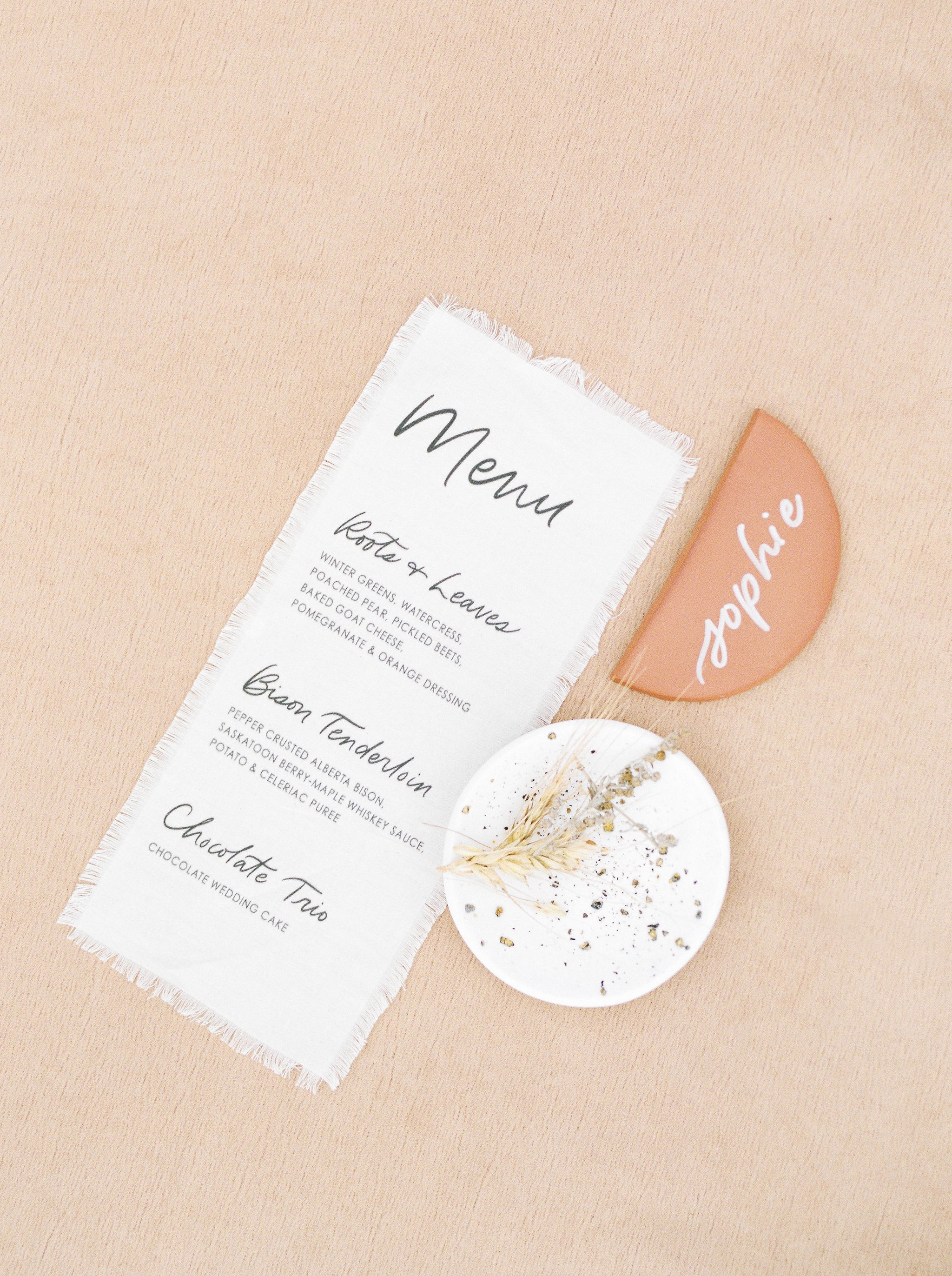 Fabric menu from    Bexley Design Co